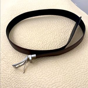 Double sided men's cowhide belt
